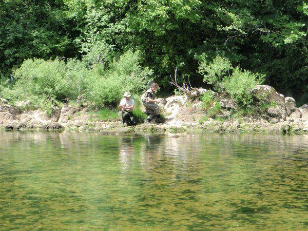 3 Jours de folie dans le Jura! Pêche dans l'Ain, la Saine et surtout la Bienne.