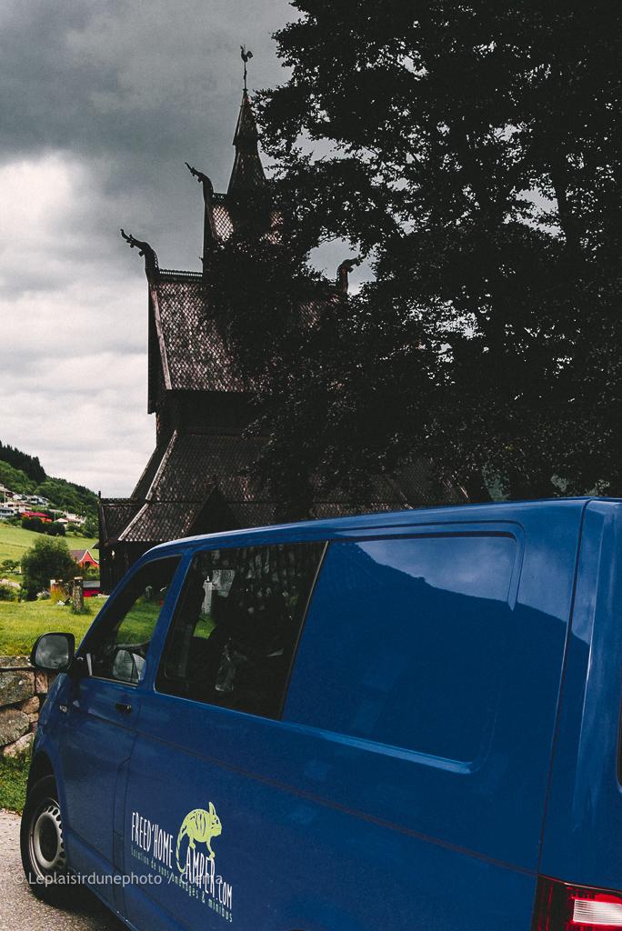 Norvège Van Sogndal voyage église