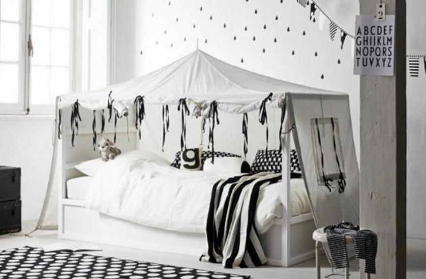 Lit Cabane Tente Style Scandinave