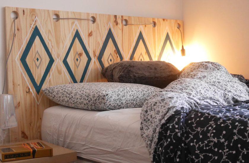 10 id es pour faire soi m me sa t te de lit diy blog. Black Bedroom Furniture Sets. Home Design Ideas
