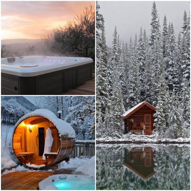 sauna jacuzzi exterieur amenager sa terrasse pour l hiver jardin