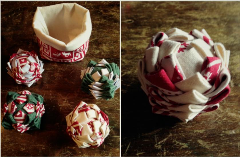 Fabrication De Boule De Noel En Polystyrene.Tuto Diy Une Boule De Noël En Tissu Blog Déco Blog Diy