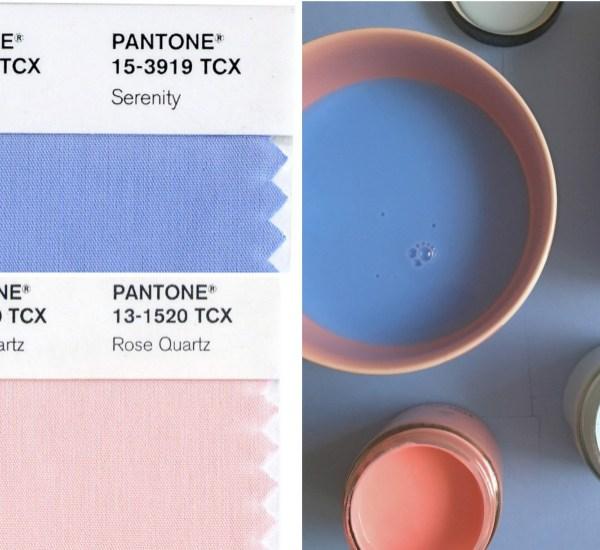 Pantone rose Quartz et Serenity couleur de l'année 2016
