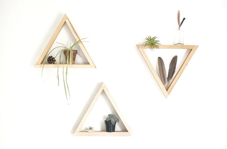Diy étagère Triangle Blog Déco Clem Around The Corner