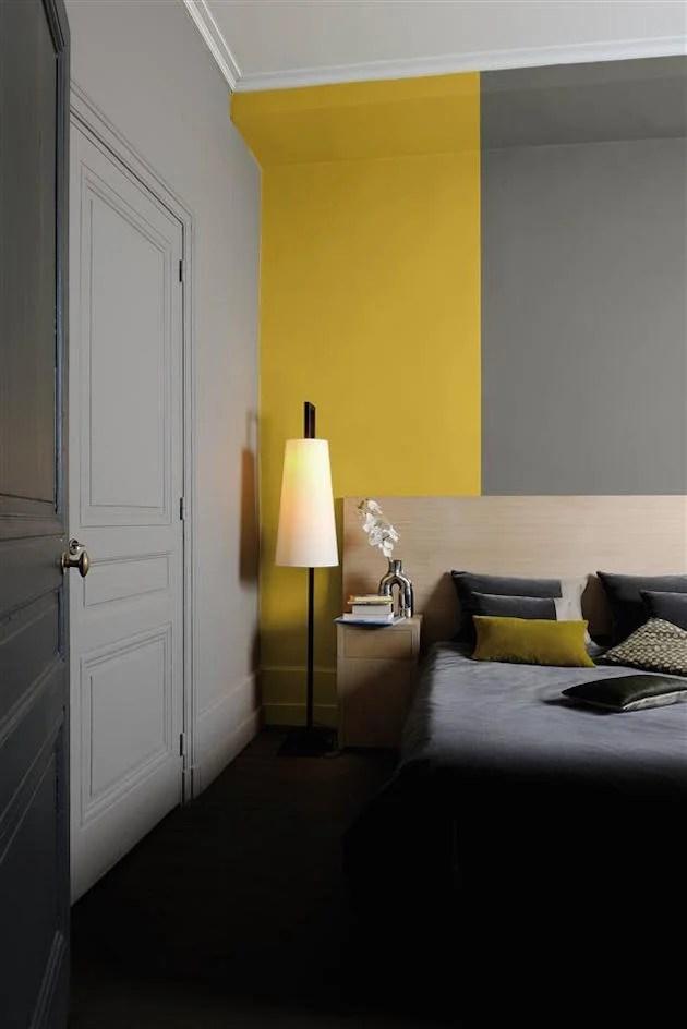 Attrayant Chambre Jaune Et Gris Idee Deco