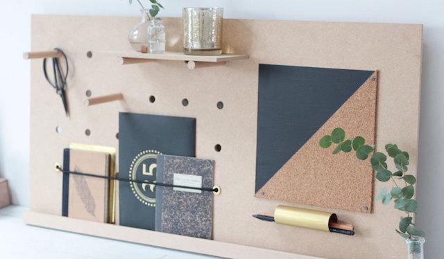 Organisateur de bureau noir petit meuble de rangement organiseur