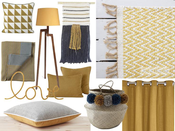 Chambre jaune moutarde : les coloris à associer - ClemAroundTheCorner