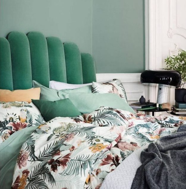 chambre tropicale moderne chic