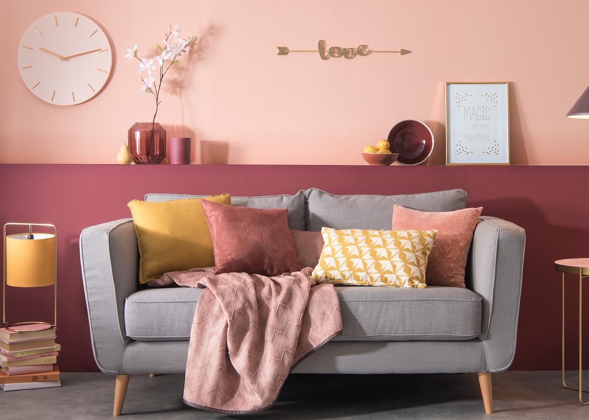 Maisons Du Monde Soldes Blush Rose Poudre Moutarde