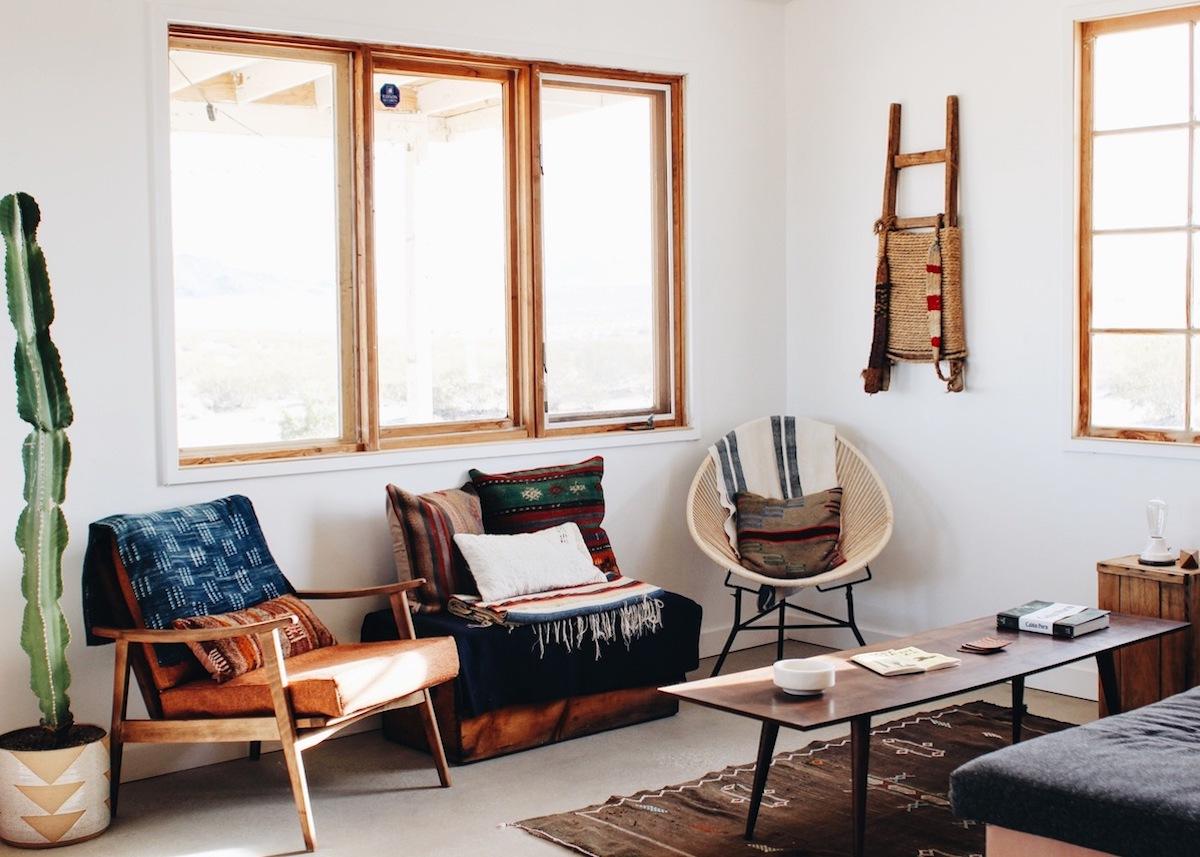Merveilleux Maison Californienne Kinkfolk Interieur Decoration Aztheque Tapis Cactus