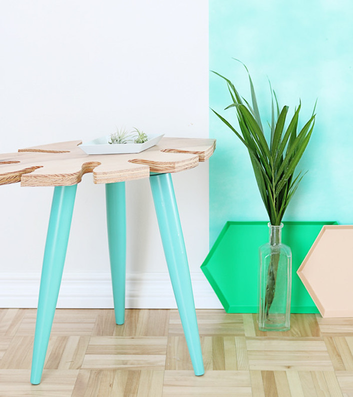 table basse urban jungle diy tendance tropicale clem around the corner