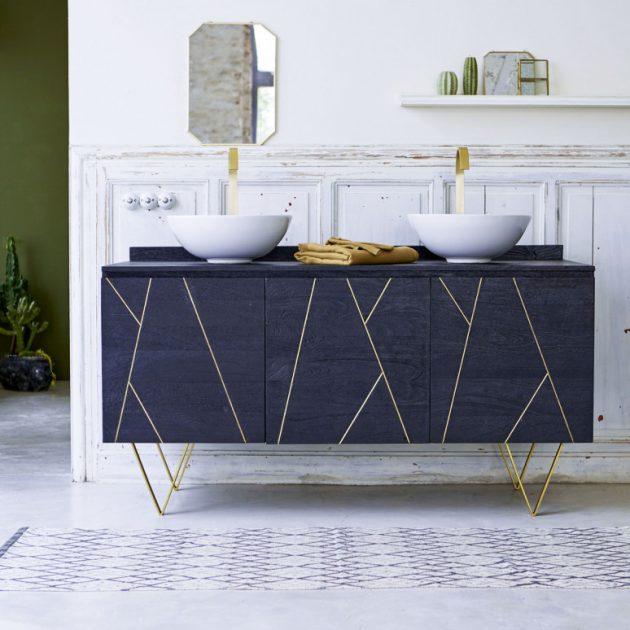 Je veux une salle de bain art d co d co clem around the corner - Art deco meuble ...