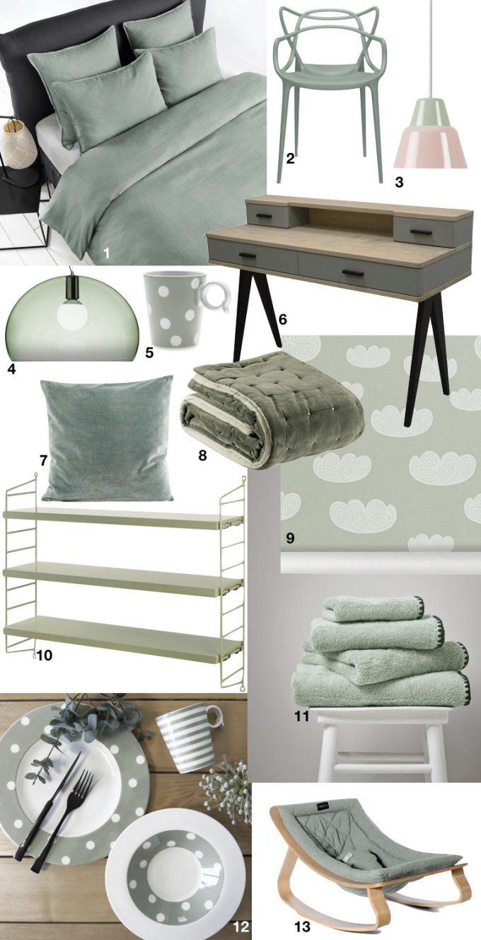 meuble couleur vert sauge blog déco ClemAroundTheCorner