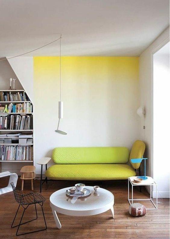 nuance de vert grennery jaune canapé