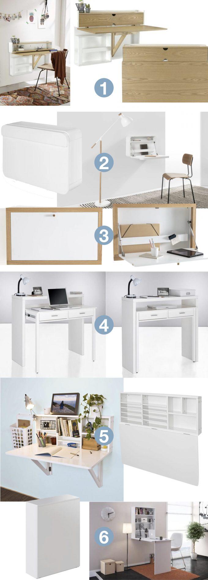 Bureau Pliable Pour Petit Espace Design Pas Cher Blog Déco Clem Around The  Corner