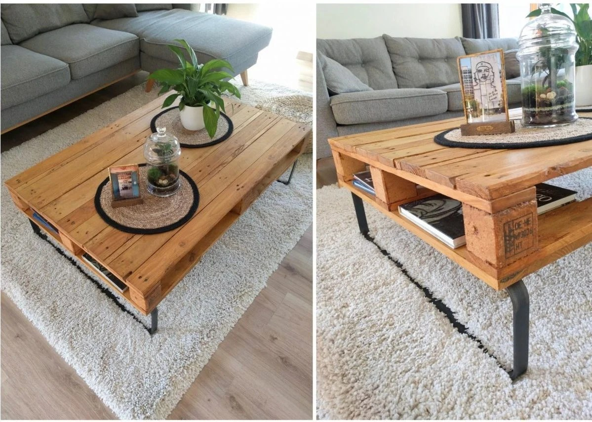 table basse palette diy blog deco clemaroundthecorner