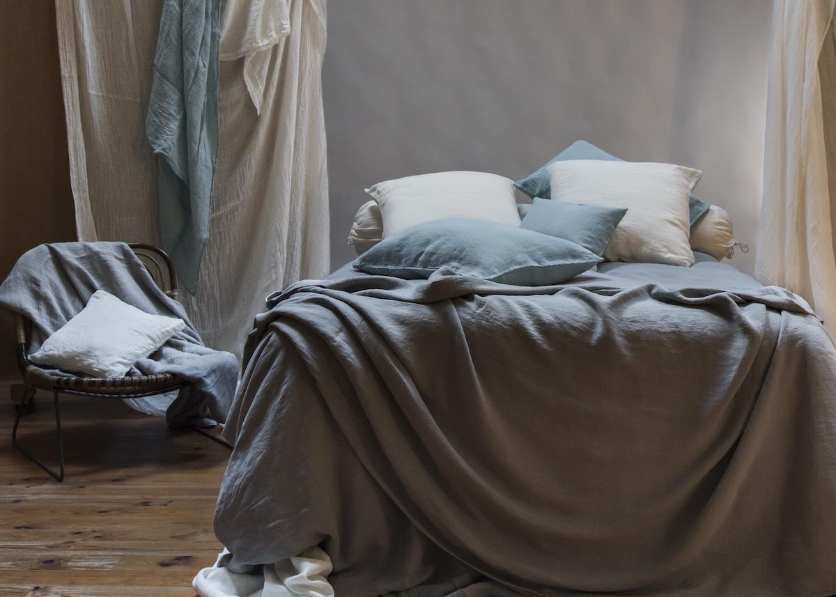 Genial Linge De Lit En Chanvre Textile Chambre Décoration Coussin Lit   Blog Déco    Clem Around