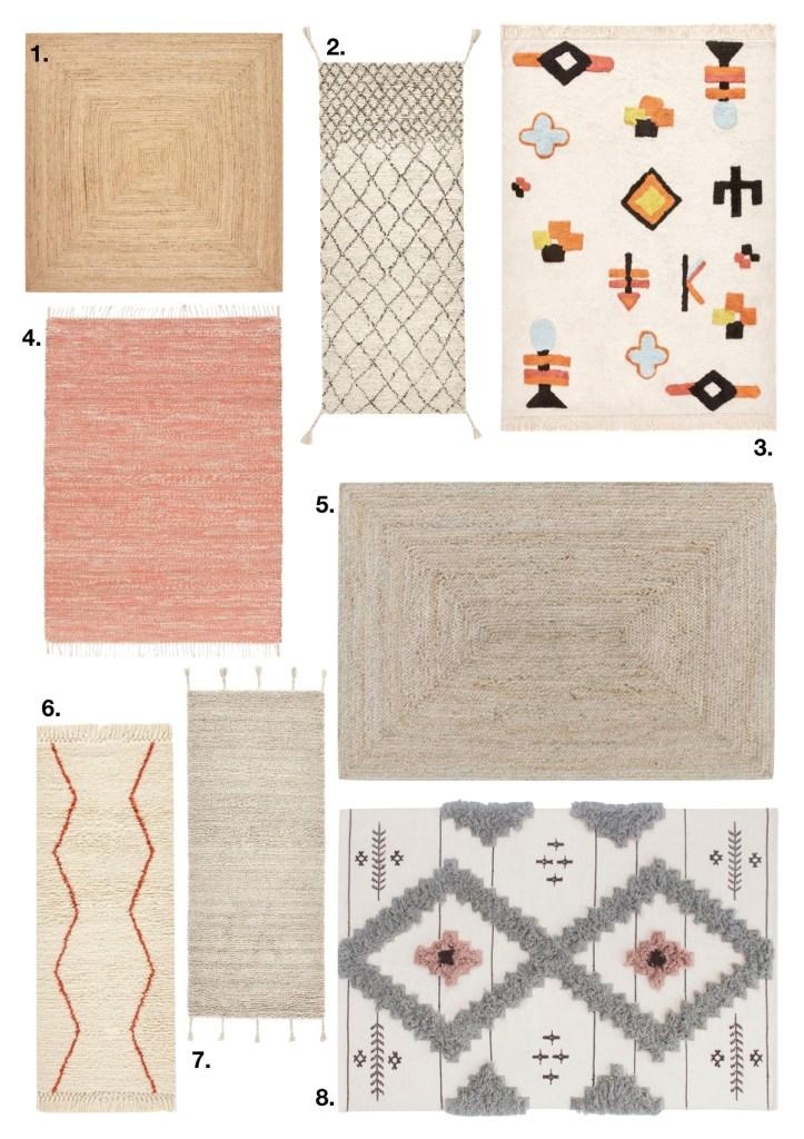 comment fixer un tapis au mur boho bohème - blog déco - clem around the corner