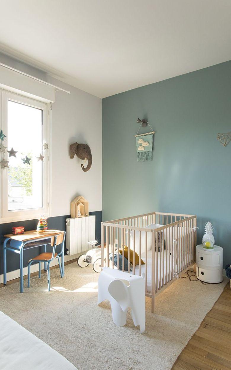 décoration vert céladon chambre bébé vert blanc lit - blog déco - clem around the corner