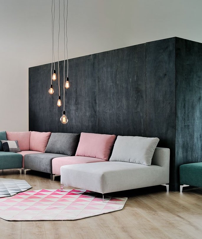 millennial pink canapés salon - blog déco - clem around the corner