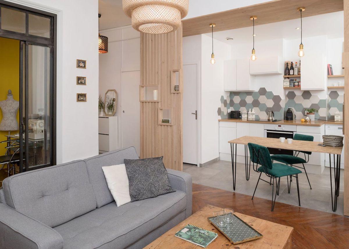 Cuisine Ouverte Sur Salon Circulation Plus Fluide Appartement Lyon   Blog  Déco   Clem Around The