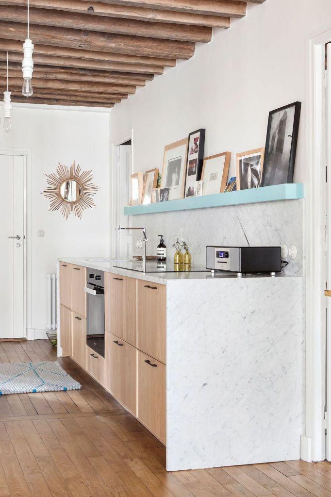 cuisine ouverte sur salon ikea avec dessus marbre - blog déco - clem around the corner