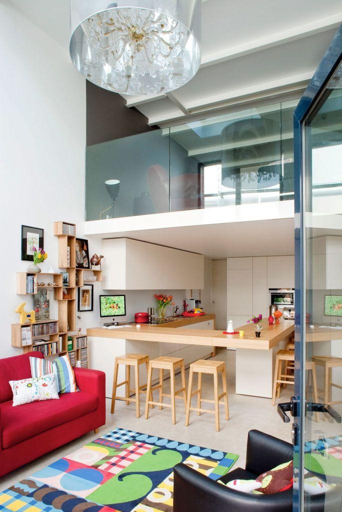 cuisine ouverte sur salon multifonctions loft - blog déco - clem around the corner