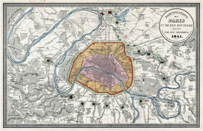 Fortifications Paris Napoléon iii 3 baron haussmann mur des fermiers généraux