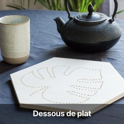 dessous de plat monstera tutoriel - blog diy création déco - clem around the corner