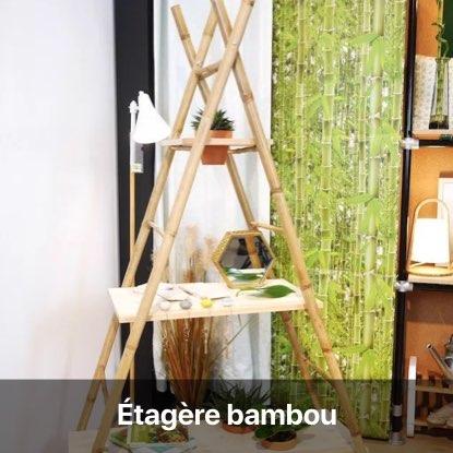 étagère rangement bambou échelle - blog diy décoration intérieur - clem around the corner