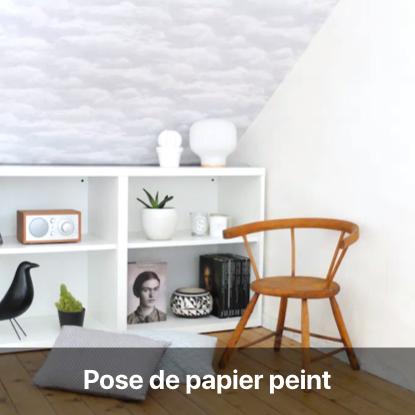pose papier peint tutoriel - blog diy création déco - clem around the corner