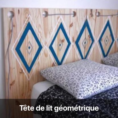 tête de lit géométrique tutoriel - blog diy création déco - clem around the corner