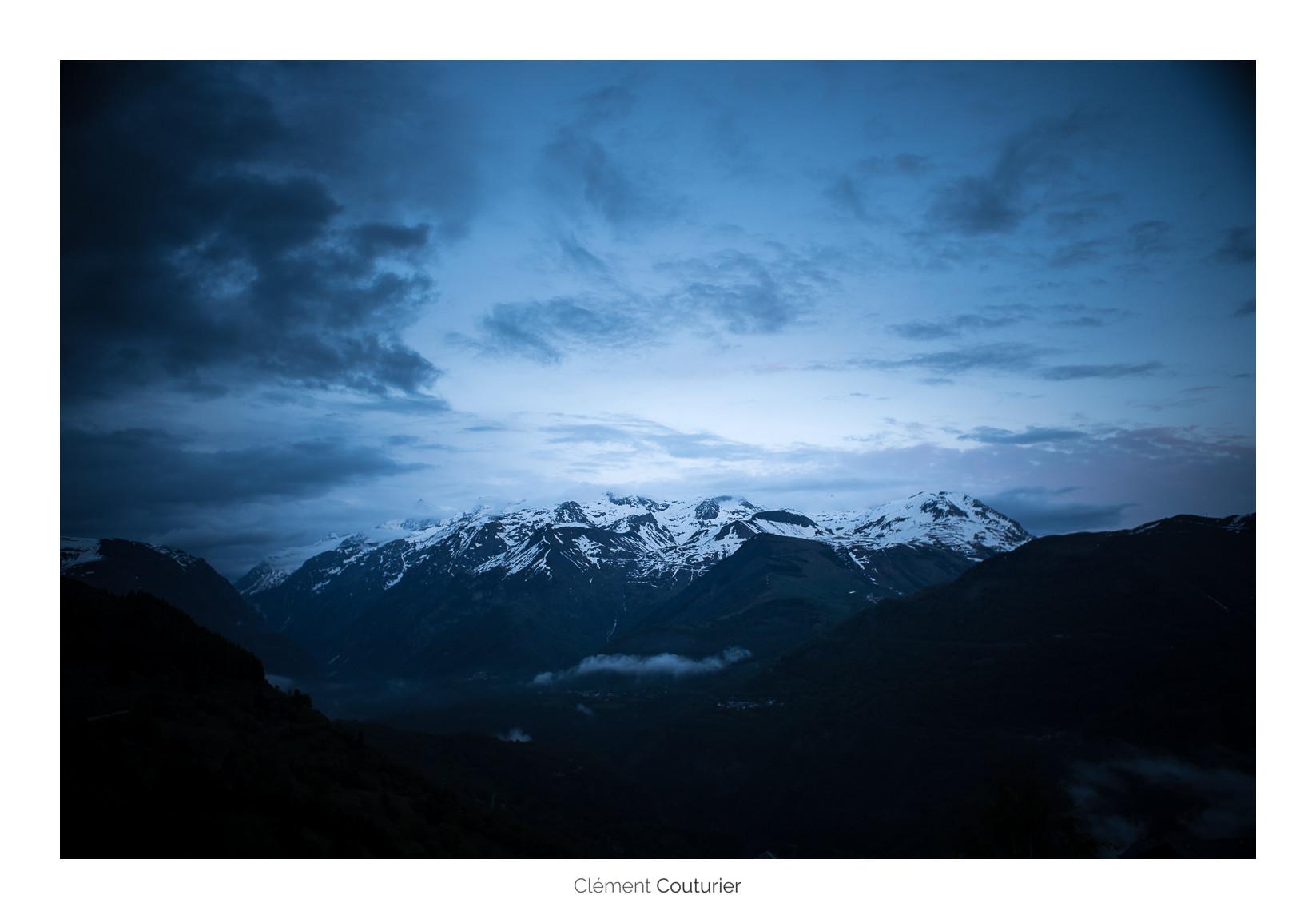 heure bleue en montagne - Clément Couturier