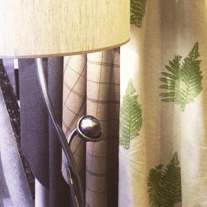 Hand-printed Bracken Fabric by Clement Design