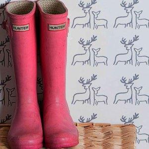 Deer Wallpaper by Clement Design