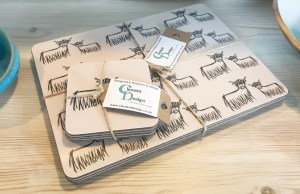 Highland Coo Placemats Coasters Set by Clement Design