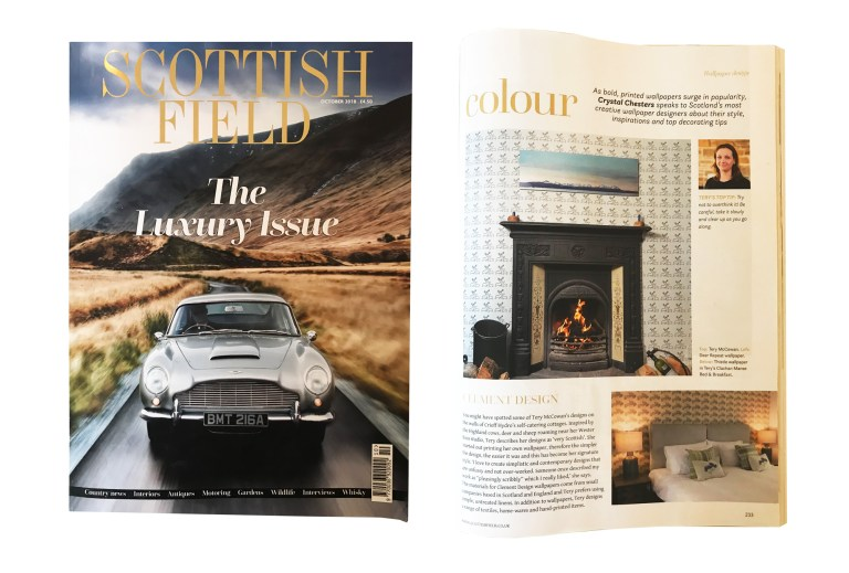 Oct2018Press: Scottish Field Clement Design