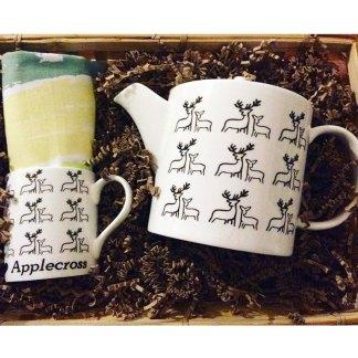 Dee Teapot Mug Applecross Bay Teatowel Bundle by Clement Design