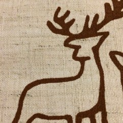 Chocolate Deer on Hessian