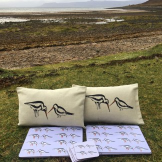 Oyster Catchers Cushions Placemats Coasters Bundle by Clement Design