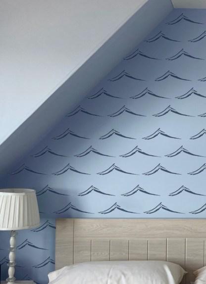 Wave wallpaper at Applecross Inn by Clement Design