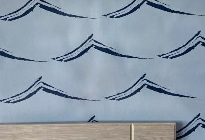 Waves/Birds wallpaper the Applecross Inn by Clement Design