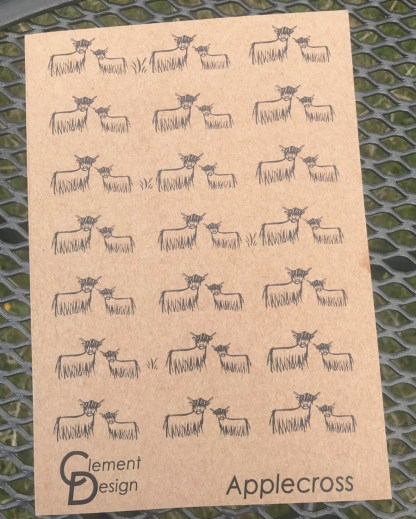 Highland Coo Eco Jotter by Clement Design