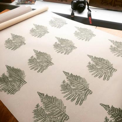 Bracken hand-printed blinds by Clement Design