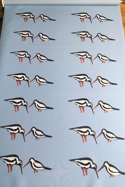 Oyster Catchers Hand-printed Blinds by Clement Design