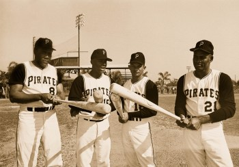 Roberto Clemente at Spring Training.
