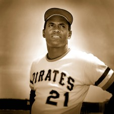 Roberto Clemente poses for a portrait.