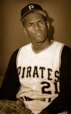 Roberto Clemente in the Pirates Dugout.