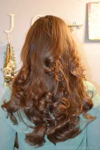 No Heat Overnight Curls Using Three Tube Socks