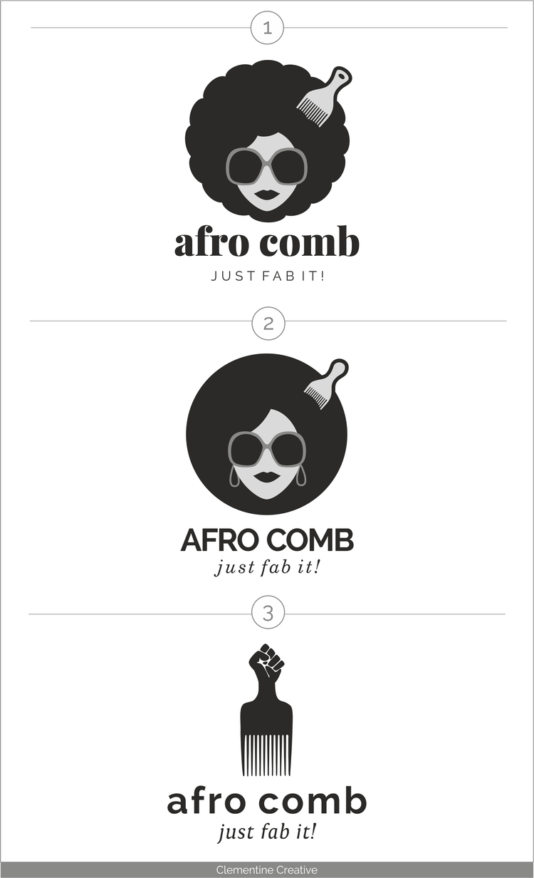Logo Design for Afro Comb, Clothing Line